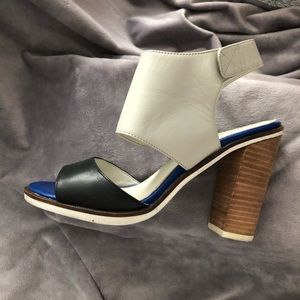 Colorblock Stacked Heels